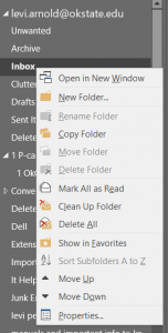Outlook Folder Properties
